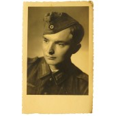 Wehrmacht soldier Helmut Hack, mid war made portrait photo