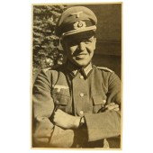 German Lieutenant in eastern front in modified to officer's enlisted ranks tunic
