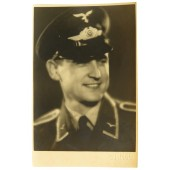 Studio portrait of Luftwaffe flak artillery NCO