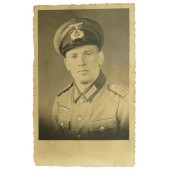 Studio photo of the German Wehrmacht pioneer