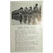 "Postcard with soldier song ""Gerda-Ursula-Marie"""