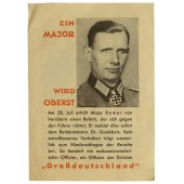 3rd Reich patriotic leaflet for demoralized german soldier