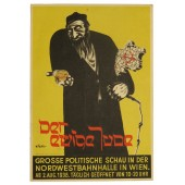 "Anti-semitic postcard,  ""Der Ewige Jude""- ""Eternal Jew"", special issue for exhibition"