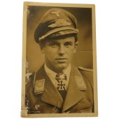 Luftwaffe postcard Oberleutnant Philipps with rare stamp