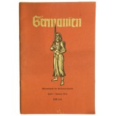"Monthly magazine printed by Ahnenerbe - ""Germanien"""