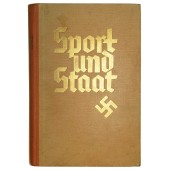 """Heavily illustrated book """"Sport und Staat"""", 1937"""