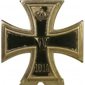 1914 Iron cross first class. One piece die struck made
