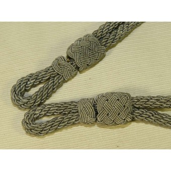 Heer, Luftwaffe or Waffen SS officers visorhat chin cord in excellent condition. Espenlaub militaria