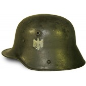M 16 German single decal helmet. War time reissued