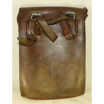 Pre war German Luftwaffe early, brown pebbled leather made map case. Espenlaub militaria