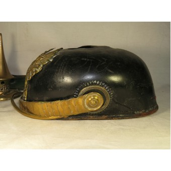 Prussian Infantry Offizers Pickelhaube-Spike helmet for parts. Espenlaub militaria