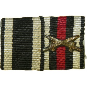 Ribbon bar from ww1. EK2 and cross with swords. Espenlaub militaria