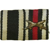 Ribbon bar from ww1. EK2 and cross with swords