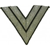 Waffen SS or Panzertroops, Obergefreitor or SS-Rottenfuehrer sleeve rank patch