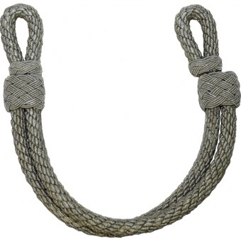 Wehrmacht Heer, Luftwaffe or Waffen SS chin cord for officers visor hat. Espenlaub militaria