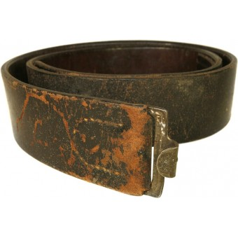 Wehrmacht or Waffen-SS leather combat belt. Espenlaub militaria