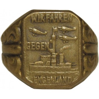 Wir Fahren gegen Engelland war patriotic soldiers ring. Espenlaub militaria