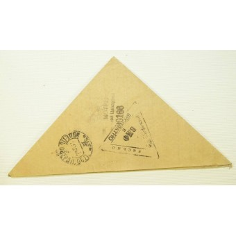 Frontline letter - triangle, Naval letter, dated 1944. Espenlaub militaria