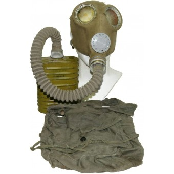 Gasmask BS MT-4 with adapted Estonian mask ARS. Rare.. Espenlaub militaria