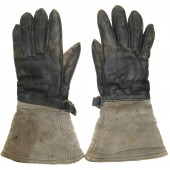 Leather gloves with fur liner for armored troops RKKA