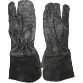 Red Army leather gloves for armored troops