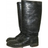 Red Army officer leather boots.