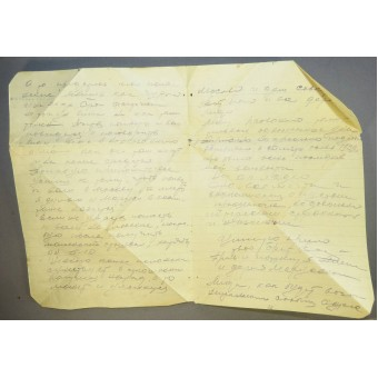 Soldiers letter from the front, 1943. Espenlaub militaria