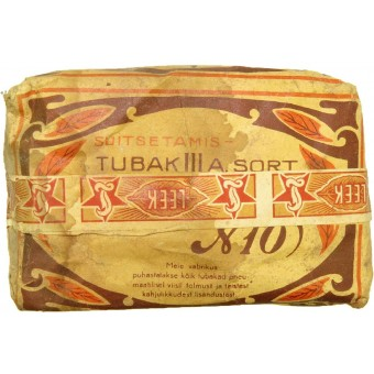 Tobacco pack N 10 made in Estonia for Red Army.