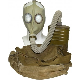 Gasmask BN T5 with rubber mask type 08. Complete set. Espenlaub militaria