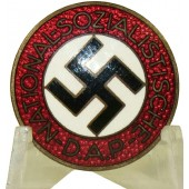 Nazi party NSDAP member's badge, M1/8 RZM
