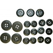 Set of buttons for selfpropelled gun or tank tunic.