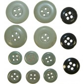 Set of ceramic buttons for SS or Wehrmacht selfpropelled gun tunic.