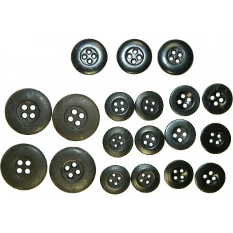 Set of buttons for selfpropelled gun or tank tunic.. Espenlaub militaria