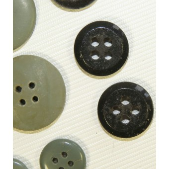 Set of ceramic buttons for SS or Wehrmacht selfpropelled gun tunic.. Espenlaub militaria