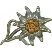 Wehrmacht mountain troops cap badge  Edelweiss