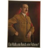 3rd Reich propaganda poster with Hitler: Ein Reich, ein Volk, ein Führer
