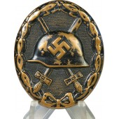 3rd Reich wound badge in black, 1939. Early type.