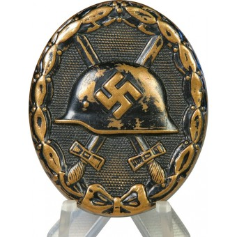 3rd Reich wound badge in black, 1939. Early type.. Espenlaub militaria