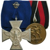 Medal Bar: Police Long Service Award and Annexation of the Sudetenland medal