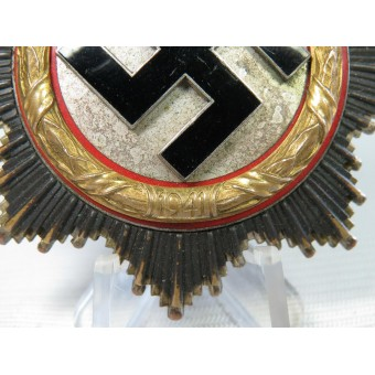 Deutsches Kreuz in Gold, German cross in Gold, marked 134. Espenlaub militaria