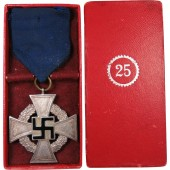 25 years of the faithful civil service in 3rd Reich