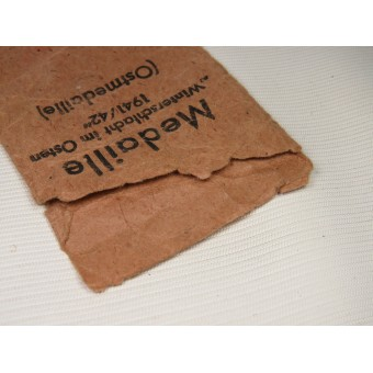 Bag of issue for Winterschlacht medal by Rudolf Souval. Espenlaub militaria