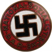 "Extreme rare 18 mm NSDAP member badge - marked ""22"" - Johann Dittrich"