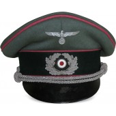 Wehrmacht Heer, Panzer or Anti-tank visor hat with pink piping