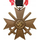 "War Merit cross/ KVK II 1939 second class w/swords ""Fat Swastika"""