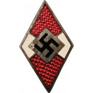 An early Hitler Youth member badge without marking