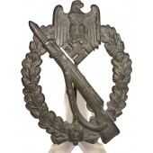 Infantry assault badge in Silver. Die stamped BH Mayer