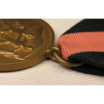 Medal In memory of October 1, 1938, in honor of the Anschluss of the Sudeten regions. Espenlaub militaria