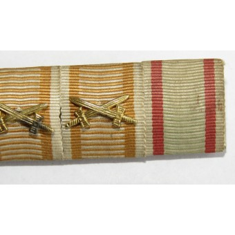 Ribbon bar for the participan of the First World War in the Austro-Hungarian army. 6 awards. Espenlaub militaria