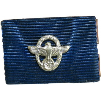 Single ribbon bar for 18 years of loyal service in the Third Reich police. Espenlaub militaria